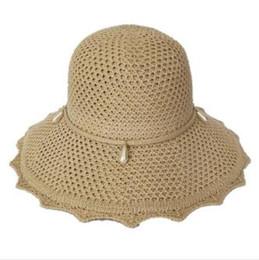 c3dac0c23e7f75 2019 new hot sale casual simple visor female sunscreen cover face travel wild  beach hat seaside big straw hat Korean sun hat