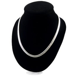 $enCountryForm.capitalKeyWord UK - 6MM 16 18 20 24 inch snake chain 925 Silver Necklace for Men Women Plated Collarbone chains womens mens Fashion Jewelry wholesale