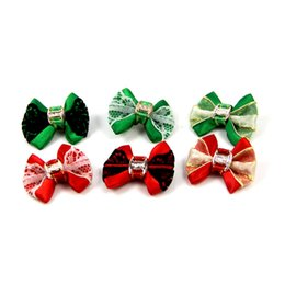 pearl hair accessory wholesale Australia - Christmas Handmade Pet Hair Accessories Pearls Style Dog Bows Pet Hair Bows Dog Hair Accessories Grooming Products Cute Gift 100 PCS