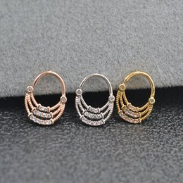 $enCountryForm.capitalKeyWord NZ - 10pcs Body Jewelry Piercing CZ India Style Ring Ear Helix Daith Cartilage Tragus Earring Nose Septum Ring Bend Shine 20g NEW