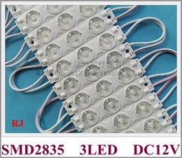 pcb module Canada - LED light module injection DC12V 74mm*16mm*8mm SMD 2835 3 LED 1.5W 200lm with diffuse lens 170 degree beam angle aluminum PCB