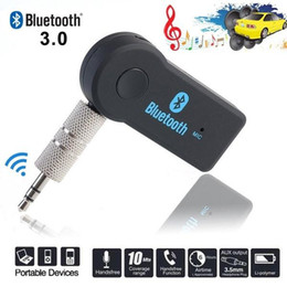 Car Bluetooth Stereo Transmitter Australia - Mini Bluetooth Receiver Audio Music Wireless Adapter 3.5mm Jack Hands-free Call Bluetooth Transmitter for PC Car Stereo Car Kit AUX