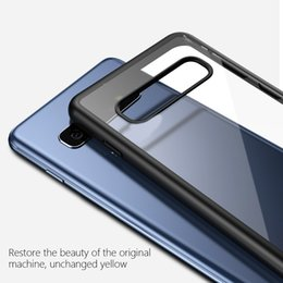 Crystal Clear Phone Cases Australia - Samsung Galaxy S10 S10 Plus Case Vpower Crystal Clear Phone Protection Soft + Hard Hybrid Case For Galaxy S10 Cover