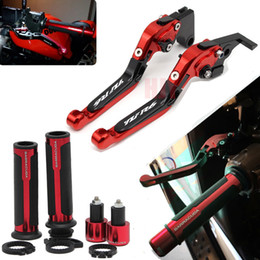 Discount cnc folding levers - New Laser Engraved Logo YZFR6 Folding Extendable Motorcycle CNC Brake Clutch Levers For Yamaha YZF R6 2017