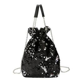 a631a9d4f50d Mini Sequin Bagpack Женщины Sac a Плечо Цепная Сумка Messenger Диагональная  Цепная Сумка Вечерняя сумочка Сумки женские 2018 Mini