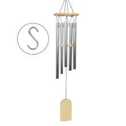 S Decor Australia - Bwinka 31.5in Relaxing Large Alloy 5 Tube Windchime for Outdoor Garden and Home Decor Gift S hook