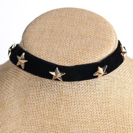 $enCountryForm.capitalKeyWord Australia - metal Stars Necklace Women Choker Gold black red Necklaces Clavicle Femme collares 2019 Fashion Jewelry for women`s gift