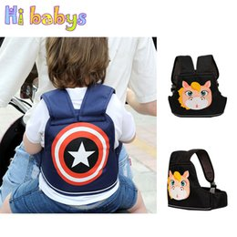 Wholesale Children Motorcycle Harness Cartoon Baby Carrier Seat Adjustable Safety Belt Insurance Back Hold Protector Y190522