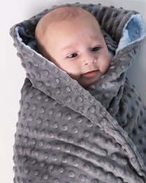 Children Bedding Wholesale Europe Australia - Fleece Baby Blanket Newborn Baby Swaddle Wrap Soft Baby Bedding crib Receiving Blanket Manta Bebes minky blanket 3 color 80*75cm MMA1271 50p