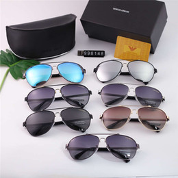 $enCountryForm.capitalKeyWord UK - Hot Men Designer Luxury Sunglasses UV PolarizationFashion Women Sunglasses Vintage Metal Sport aviators Sun Glasses High Quality With Box