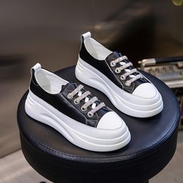 $enCountryForm.capitalKeyWord Australia - Autumn 2019 new women's Korean version wild leather Height Increasing shoes single shoe Color matching casual shoes