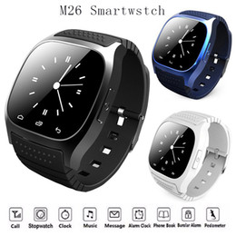 M26 Smart Watch Passometer Australia - Trend Waterproof Smartwatches M26 Bluetooth Smart Watch With LED Alitmeter Music Player Pedometer For Apple IOS Android Smart Phone