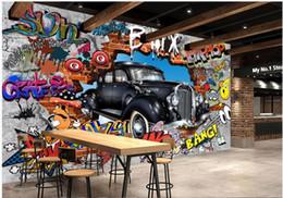 $enCountryForm.capitalKeyWord Australia - WDBH 3d wallpaper custom photo Retro doodle car brick wall tv background living room home decor 3d wall murals wallpaper for walls 3 d
