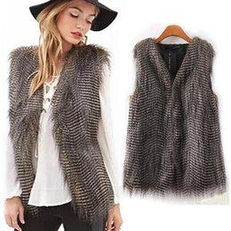 Long Hair Vest Australia - New Women Vest Sleeveless Coat Fashion Outerwear Long Hair Jacket Waistcoat warm Faux Fur bulk purchase