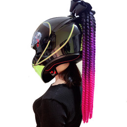 Discount knitted helmet - Motorcycle Gradient Slope Helmet Tweezers Twisted Knitting Angle Motocross Motorcycle Protective Accessories Decoration