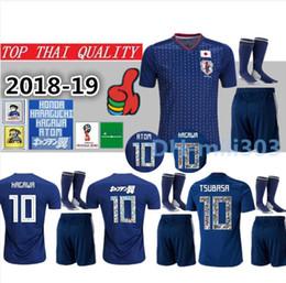 Soccer jerSey number kit online shopping - 2018 World Cup Japan Soccer Jersey kit Cartoon Number uniforms TSUBASA OKAZAKI KAGAWA HASEBE ATOM japan Custom football Shirt