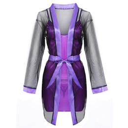 $enCountryForm.capitalKeyWord NZ - 2019 summer new style 3PCS Women Sexy Lace Sleepwear Babydoll Lingerie Nightdress+Robe+G-string Set Hand wash Lace