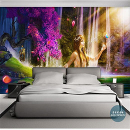 Kids Scenery Australia - Custom Size 3D Photo Wallpaper Kids Room Mural Sexy Beauty Waterfall Scenery 3D Picture Sofa TV Backdrop Mural Home Decor Hotel Wallpaper 3D