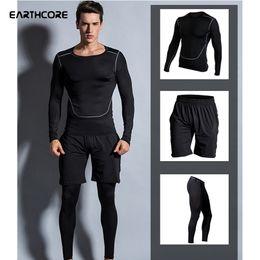 $enCountryForm.capitalKeyWord NZ - Men Elastic Compression Sportswear Patchwork Sport Tops Shorts Tight Trousers Male Basketball Run Training Jogging Sports Wear