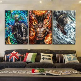 $enCountryForm.capitalKeyWord Australia - (Unframed Framed) One Piece Anime,3 Pieces Home Decor HD Printed Modern Art Painting on Canvas 16x24x3.