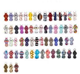 Portachiavi in neoprene stampato sport portacappelli portachiavi leopardo avvolgere porta rossetti copriletto labbra bomboniera regalo 61 disegni YW1710 in Offerta