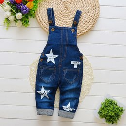 Denim Style For Babies Australia - good quality 2019 baby boys pants denim overalls for girls spring autumn jeans infant toddler new bib boys casual jumpsuit pants