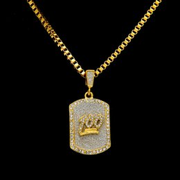 $enCountryForm.capitalKeyWord Australia - Hiphop 100 Jesus Shield Pendants Necklaces For Men 18K Gold Plated Hip-hop Chains Full Diamond Hip Hop Jewelry Free Shipping