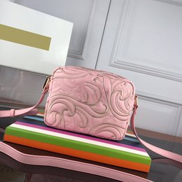 Camera Women Australia - Designer Bags Plain Classic Bright Colors Pleated Embroidery Floral Atmospheric Appearance Femininity Genuine Leather Embroidered Camera Bag