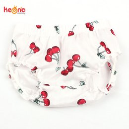 organic lipsticks Canada - Newborn Baby Summer Cherry Ruffle Bloomers Little Girl Cotton Diaper Cover Toddler Lipstick Shorts Infant Clothing