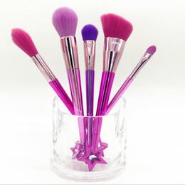 $enCountryForm.capitalKeyWord Canada - Star makeup brush set eyebrow shadow foundation makeup brush star decorative handle cosmetic tool 5pcs  set R0132