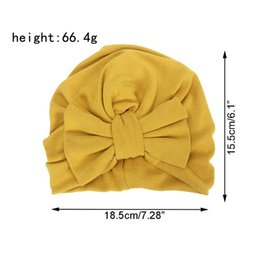 kids fedoras beanies UK - Baby Cap Cotton Big Bow Hats For Kids Girls Bowknot India Hat Autumn Wintet Turban Hat Beanie
