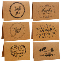 $enCountryForm.capitalKeyWord Australia - Kraft Paper Thank You Note Greeting Cards Wedding Birthday Party Reception Crafts Gift Card Free Shipping