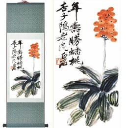 chinese flower decorations UK - Chinese Art And Flower Painting Home Office Decoration Chinese Scroll Painting Traditional Birds And Flower Painting Chinese2019061438