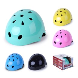 bicycle scooters Australia - Cycling Helmets Cycling Skate Road Bike Bicycle Scooter Cycling Sport Helmet for Kid Children ABS Green Yellow Pink Black