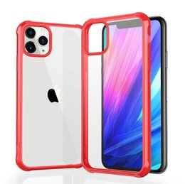smart watches phones apple NZ - Applicable iPhone11 mobile phone case Apple 11 pro max protective cover four corner anti-drop cover acrylic hard shell smart watch