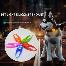 Wholesale Pet Dog Led Light Pendant Night Walking Safety Dog Cat Collar Charm Puppy Kitten Necklace Glowing Flashing Light Pet Supplies