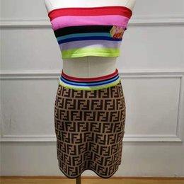 $enCountryForm.capitalKeyWord Australia - Wholesale New Women Tops+Skirt 2 PCS Hign-End Designer Female Dress Sets Knitting Runway Better Hot Sale