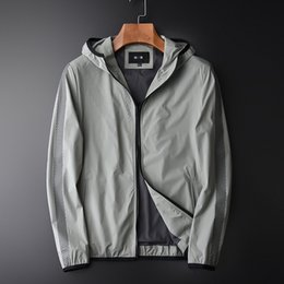 Zipper Technology Australia - 2019 New Arrival High Quality Fashionable Design Laser Piercing Technology Casual Thin Loose Jackets Men With Hood Plus Size 4XL
