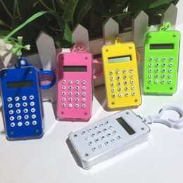 Key Lcd Australia - Student Computer Labyrinth Modeling Color Hanging Calculator Office Business Key Chain Electronic Calculator