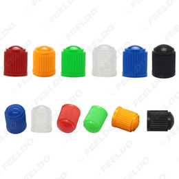 bicycles tyres UK - wholesale 10pcs lot Universal 6-Color Plastic Car Valve Caps Bicycle Motorcycle Wheel Tyre Air Valve Stem Caps#3875