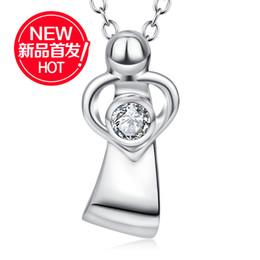 $enCountryForm.capitalKeyWord Australia - Crossborder Gift for Mothers Day S925 Silver Jewelry Mother and Child Embrace Pendant Necklace Amazon Explosion
