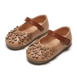 $enCountryForm.capitalKeyWord Australia - 2019 Newest Flowers Children Toddler Baby Little Girls Leather Single Shoes Kids Flat Princess Shoes Fashion Party Lady Sandals