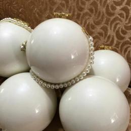 2019 Weihnachtsgeschenk Luxus Schwarz Whitkugel Tasche Berühmte Designer-Handtaschen-Mode-Partei-Schulter-Beutel VIP-Geschenk Handtasche Camellia Perlen Taschen im Angebot