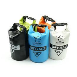 Black Swimming Toys UK - HOT 2L Outdoor Dry Bag Waterproof Sack Sport Storage Swimming Beach Travel Kayak Boating