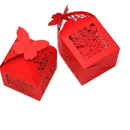 Laser Cutting Gifts UK - Roses Laser Cut Favor Candy Box Wedding Favors And Gifts Box For Guests Event Party Supplies 50pcs