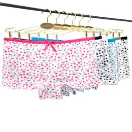 $enCountryForm.capitalKeyWord NZ - New Design Sale Young Girls Panty Cotton Lingerie Boyshort Women Panties Ladies Print Boyshort