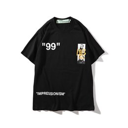 2019 Nuevo Doodle lema hombres y mujeres pareja camiseta de manga corta cuello redondo camiseta para mujer Tamaño de la ropa con M-2XL ropa de diseñador para hombre en venta