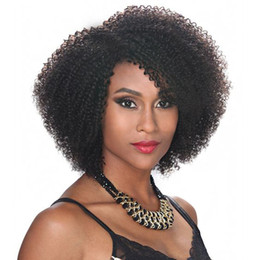 new african american wigs NZ - NEW fashion hairstyle women's afro kinky curly natural wig African American Brazilian Hair Simulation Human Hair black Kinky curly wig