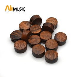 $enCountryForm.capitalKeyWord NZ - Acacia Small Round Shape Guitar Tuning Pegs Tuners Machine Heads Replacement Buttons Knobs Handle