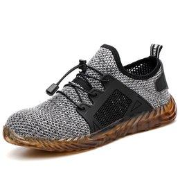 Großhandel Oeak 2019 New Ryder Men Schuhe Stahlkappe Air Sicherheit Freizeitschuhe Pannensichere Arbeit Turnschuhe Atmungsaktives Drop Shipping